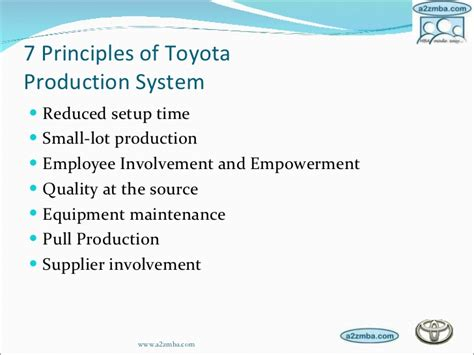 production production system toyota production system