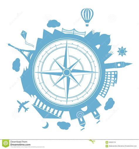 clipart viaggi icona rotonda di vettore dell agenzia di viaggi