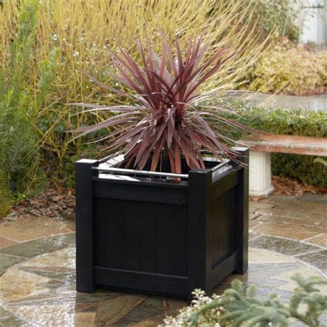 Black Wooden Planters 17 Best Ideas About Large Wooden Planters On