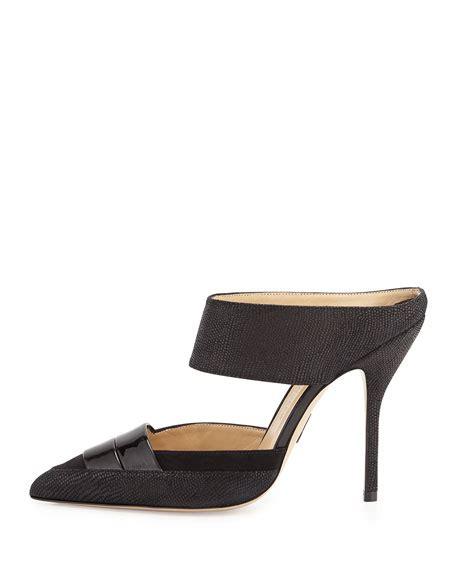 black high heel mules paul andrew high heel leather mule black