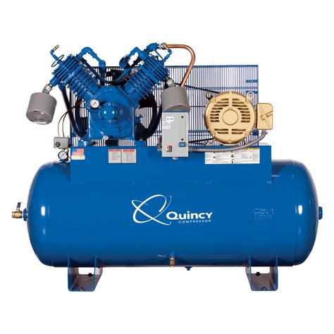free shipping quincy qp 15 pressure lubricated reciprocating air compressor 15 hp 230 460