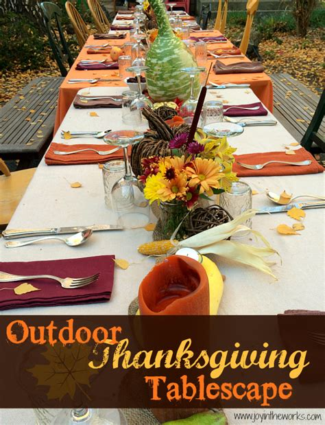 outdoor thanksgiving tablescape joy in the works