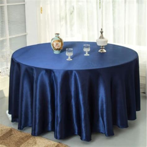 Navy Blue Table L by 10pcs Pack Navy Blue 120 Inch Satin Tablecloths