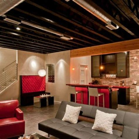 basement ceiling cost 36 practical and stylish basement ceiling d 233 cor ideas shelterness