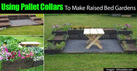 pallet raised bed using pallet collars to make raised bed gardens