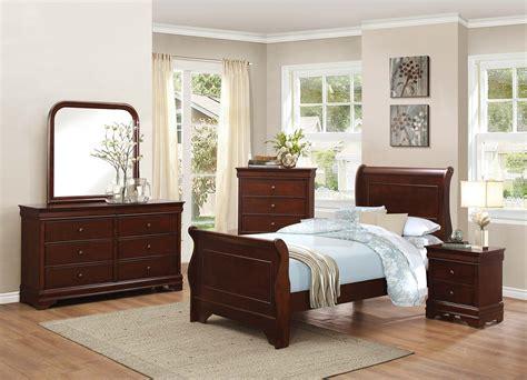 homelegance abbeville sleigh bedroom set brown cherry