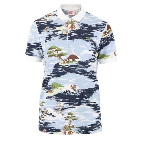 Lacoste Multi L Colour lacoste l ive multi croc hawaiian polo shirt for lyst