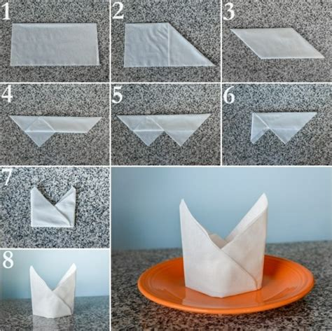 Paper Napkin Folding Techniques - paper napkin folding festive table