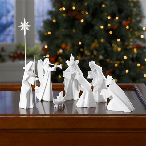 porcelain origami nativity at signals hl6122