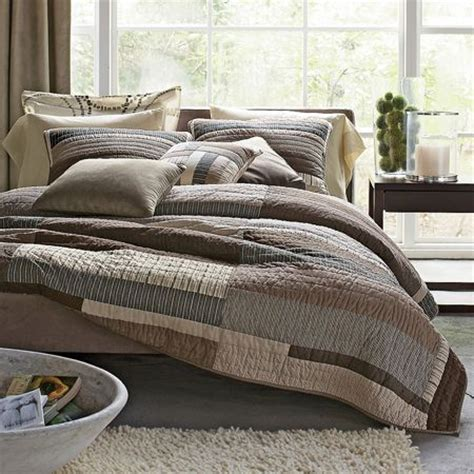 Contemporary Bed Quilts essex contemporary quilt essex neutral bedding collection
