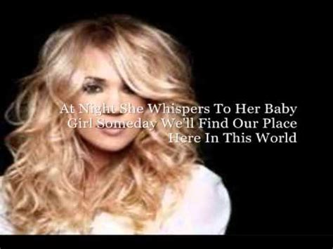 temporary home by carrie underwood lyrics on screen