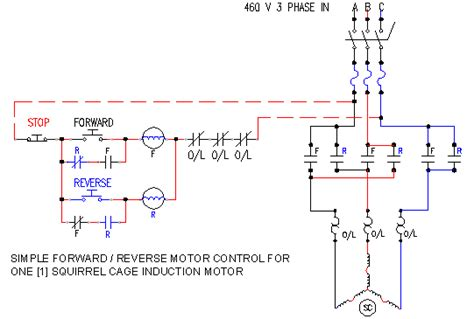 Schematic Of A Simple Forward Reverse Motor Controller
