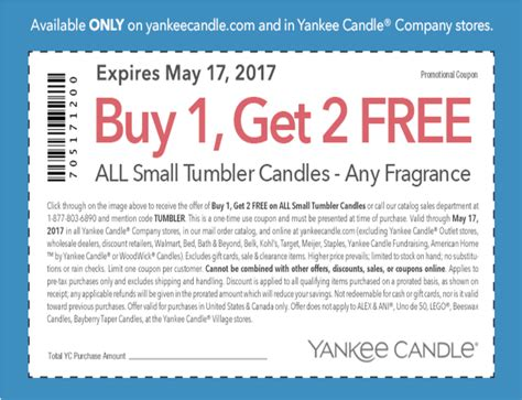 printable yankee candle coupons september 2017 new buy 1 get 2 free yankee candle coupon small tumbler