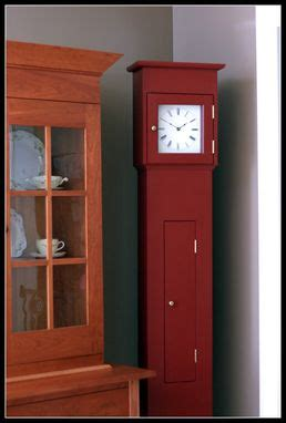 custom shaker tall clock painted   kelly furniture custommadecom
