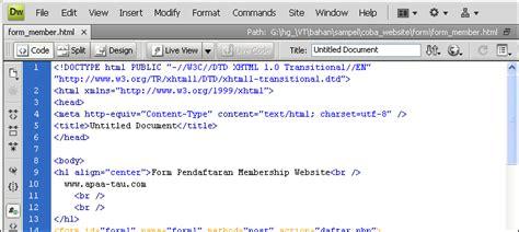 membuat website dengan php di dreamweaver komputer bagi pemula mengenal membuat website dengan