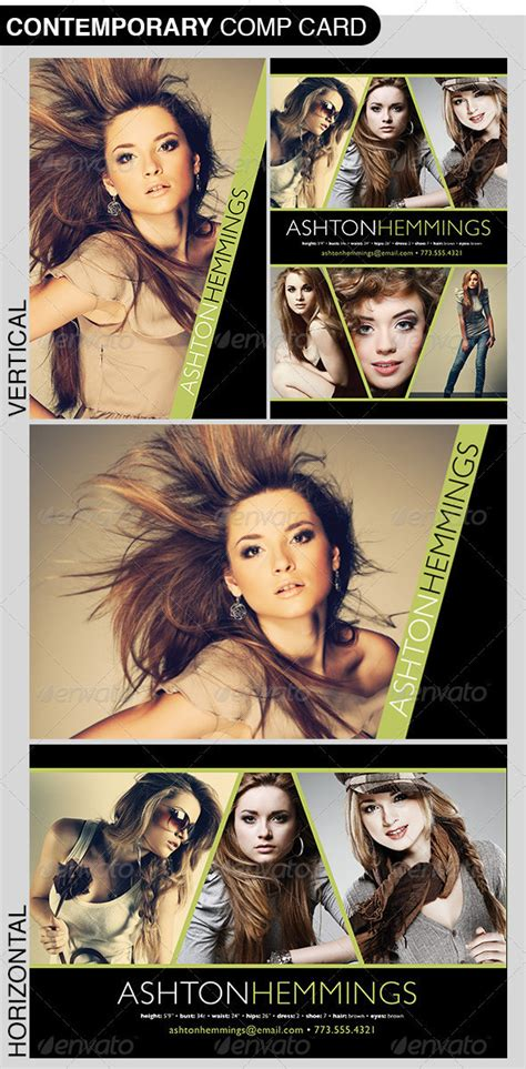 comp card template adobe photoshop model comp card photoshop template on behance