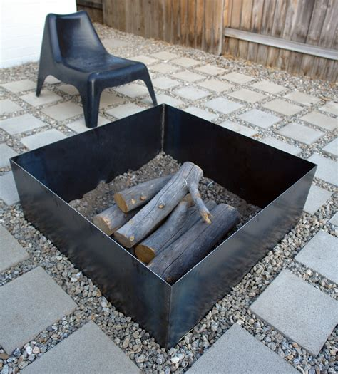 pit square 35 metal pit designs and outdoor setting ideas