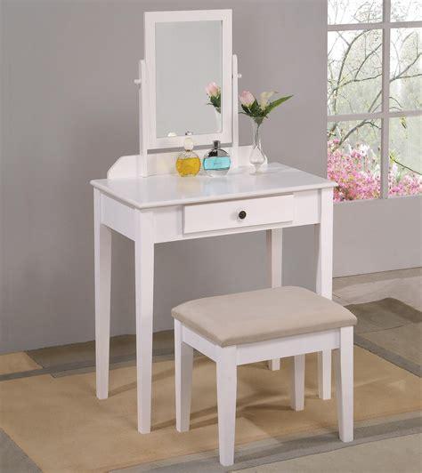 Iris Vanity Table And Stool by Crown Iris 2208set Wh Vanity Table Stool
