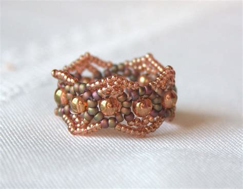 beaded rings beading from the april 2010