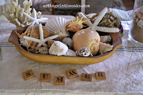 summer decorating with seashells summer house and mantles