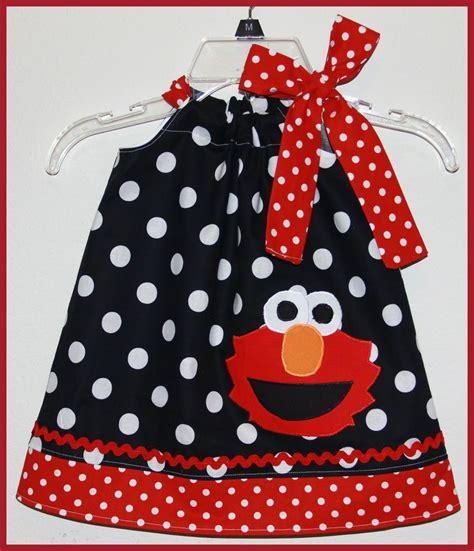 White Elmo Dress Piyama elmo dress black and whitepolka dot elmo dress applique birthday black white polka dot