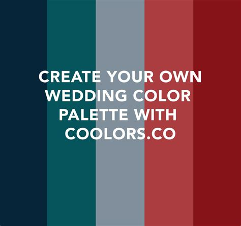 wedding color scheme generator your wedding colors with coolors co dpnak weddings