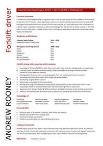 forklift resume exles new calendar template site