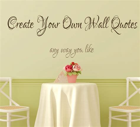 create your own wall stickers quotes create your own wall decal quote personalised wall
