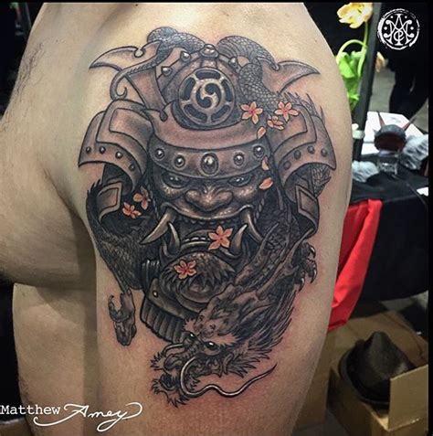 tattoo of the week samurai dragon independent tattoo
