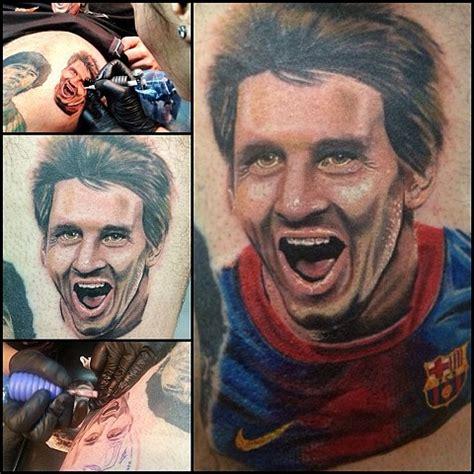 messi tattoo face the art of maddalena ruggiero