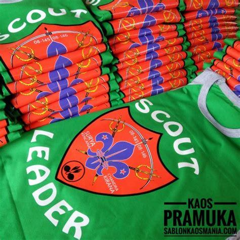 Kaos Komunitas Pramuka kaos pramuka scout jakarta sablon kaos mania
