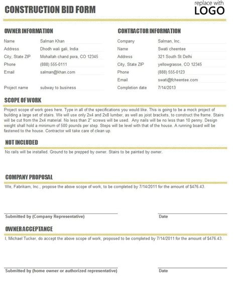 bid for bid proposals free template cyberuse bid