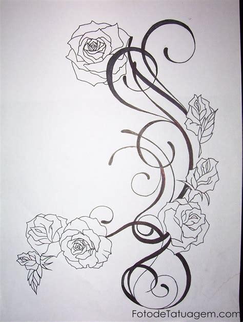 desenho flores desenhos para tatuagem de flores foto de tatuagem