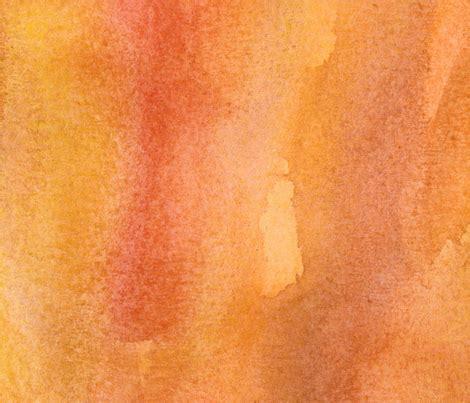 earthy orange watercolor wash earthy orange fabric seabluestudio