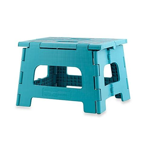 Kikkerland Rhino Folding Step Stool by Buy Kikkerland 174 Design Rhino Ii Folding Step Stool In Aqua
