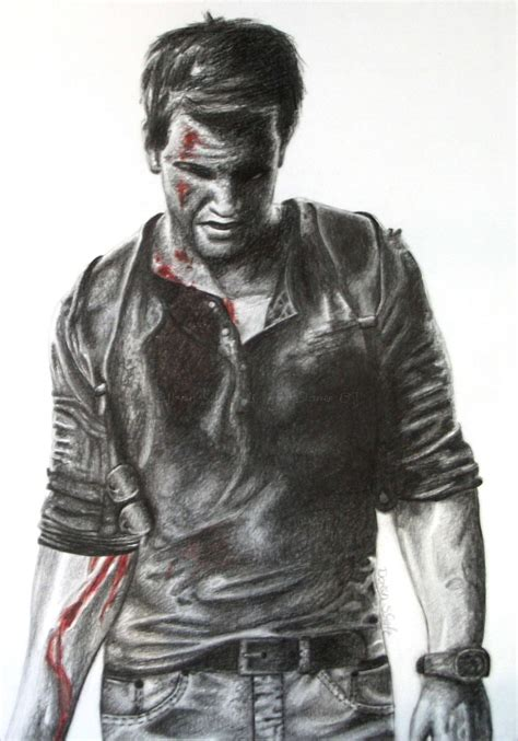 Uncharted 4 Sketches by Uncharted 4 Nathan Pencil Drawing By Gd Doreen