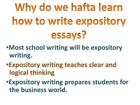 How To Write A Expository Essay by Expository Essay Powerpoint