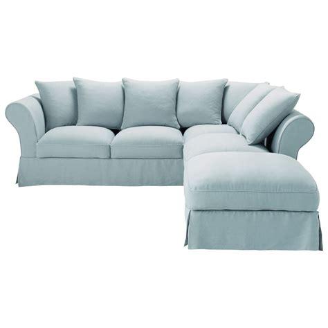 maison du monde divano roma sof 225 de esquina fijo 6 plazas lino azul agrisado roma