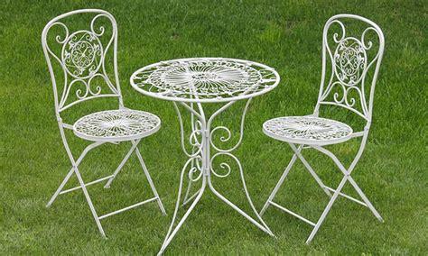 sedie da giardino in ferro battuto tavoli e sedie in ferro battuto groupon goods