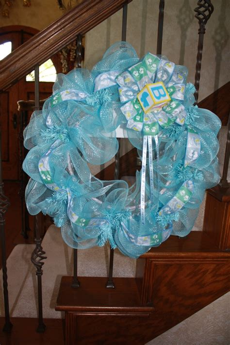Baby Shower Door Decorations 1000 Images About Wreaths Baby On Pinterest Baby Shower Wreaths Deco Mesh And Baby Wreaths