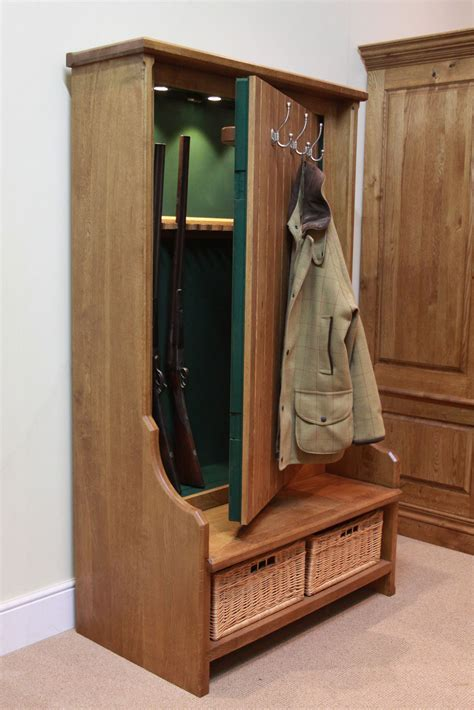 cabinet with gun storage gun concealment bench furniture stashvault