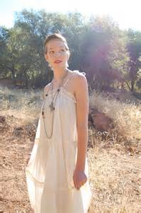 Sun dress vintage 70s cream sheer gauze bohemian by enidandedgar