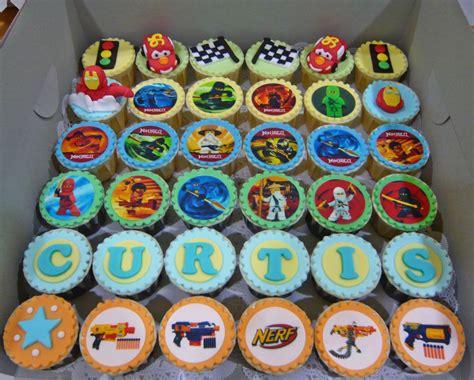 Backyard Baby Shower Ideas Jenn Cupcakes Amp Muffins Ninjago And Cars Cupcakes