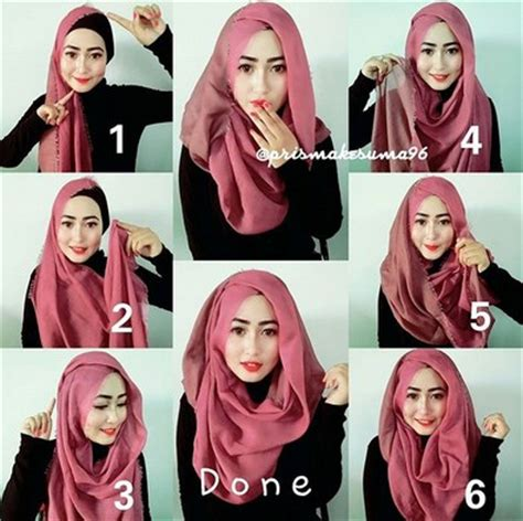 tutorial hijab pashmina ombre rawis video tutorial hijab modern pashmina rawis simple trend