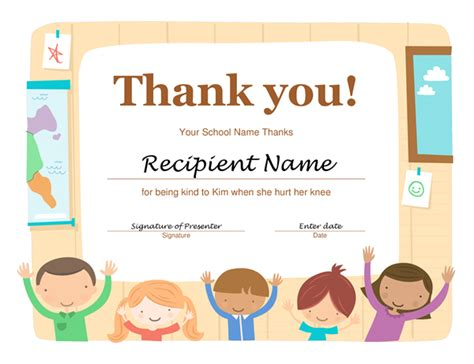 gratitude certificate template thank you certificate