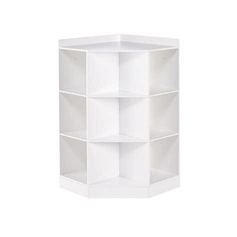 Riverridge Kids 6 Cubby 3 Shelf Corner Cabinet In