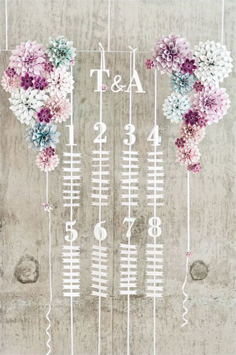tableau con fiori 20 idee con i fiori di carta per il vostro matrimonio