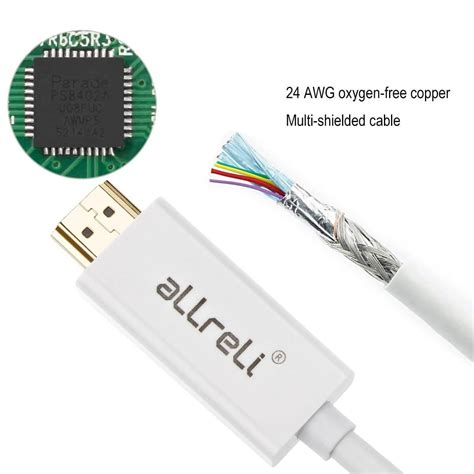 Mini Display To Hdmi Cable 1 8m allreli 1 8m mini display port dp to hdmi cable adapter