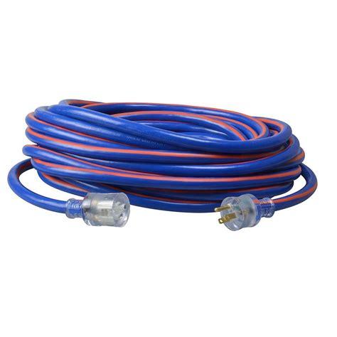 light socket extension cord southwire 50 ft 10 3 sjtw hi visibility multi color