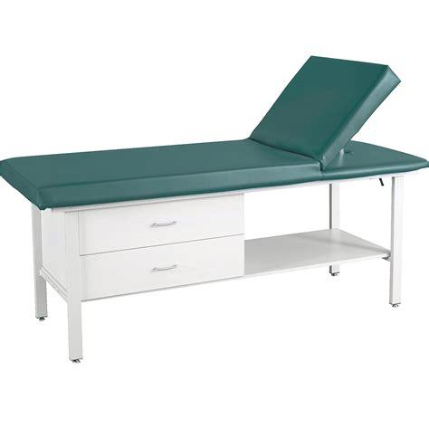 table adjustable headrest treatment table w adjustable headrest and drawer winco